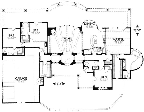 Front or side garage options for Corner lot house plans