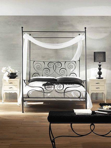 cama de forja con dosel sethunia