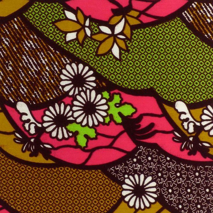African Wax Prints Daisy Path