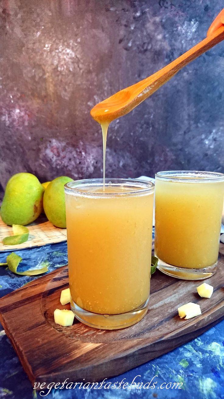 Aam Panna Recipe   Raw Mango Drink   Kachi Keri no Baaflo   Summer Coolers Recipes   Vegetarian Tastebuds