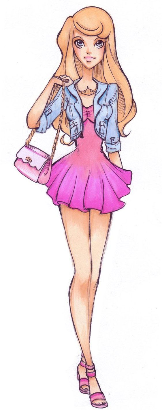 High School Aurora - disney-princess Fan Art (S/N: bet she always falls asleep in class.)  maybe a comic project
