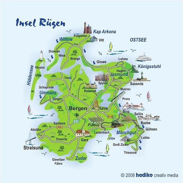 Ostsee Karte Rügen.Insel Rügen Deutschland In 2019 Urlaub Rügen Insel Rügen Karte