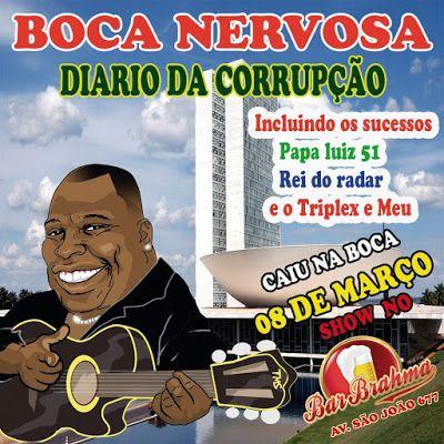 """08/03 ♥ Boca Nervosa lança o álbum """"Diário da Corrupção"""" com Show no Bar Brahma ♥  http://paulabarrozo.blogspot.com.br/2016/03/0803-boca-nervosa-lanca-o-album-diario.html"""