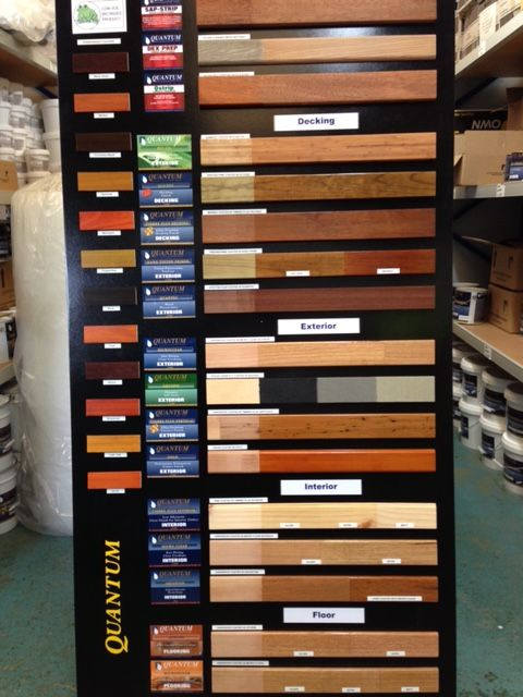 Quantum Timber Finishes Colour Board