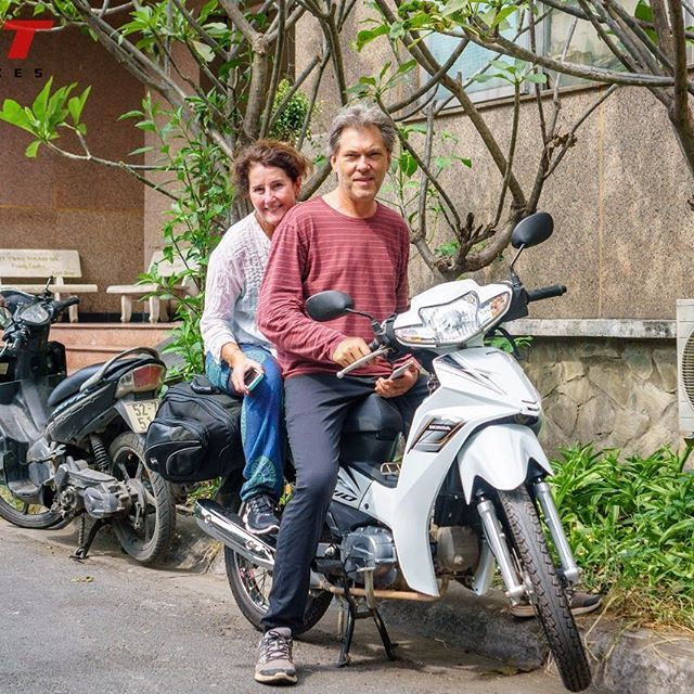 Perry and Kate from Australia and Tigit Honda Blade 110 #tigitmotorbikes #hondablades