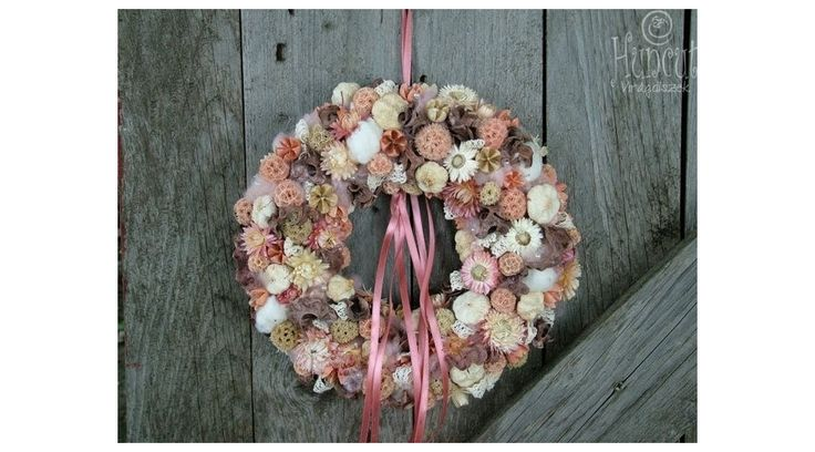 Romantic wreath / Mesés Barackos otthon dekoráció