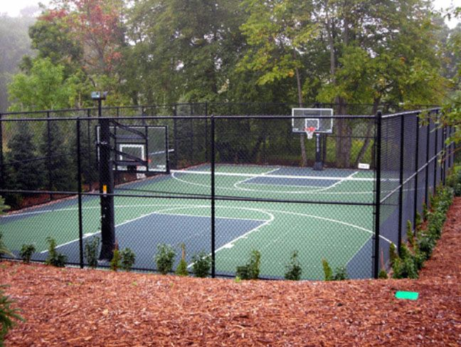 The 25 best backyard basketball court ideas on pinterest for Personal basketball court