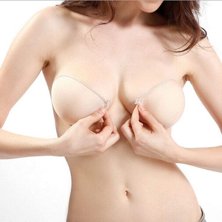 Sexy Adhesive Stick on Push Up Strapless Invisible Cotton Backless Bra FE | eBay