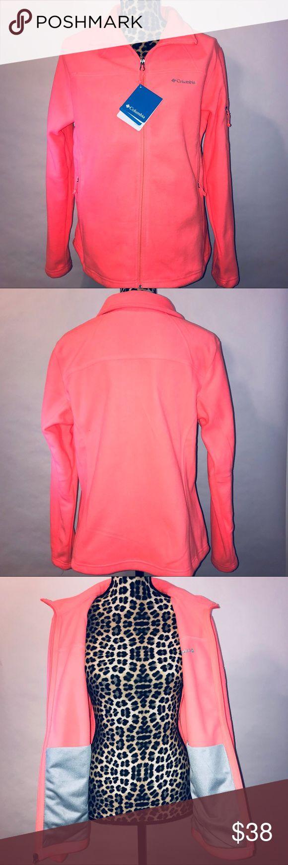 Women's pink Columbia fleece sweater sz. Large NWT Nice women's fleece zip up sweater, size large, brand is Columbia, NWT columbia Tops Sweatshirts & Hoodies