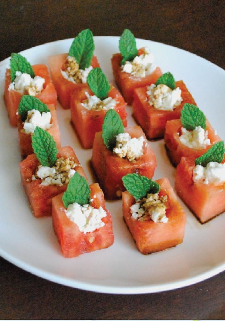 These Watermelon Feta Bites make a delicious afternoon snack or a yummy appetizer for a summer party!