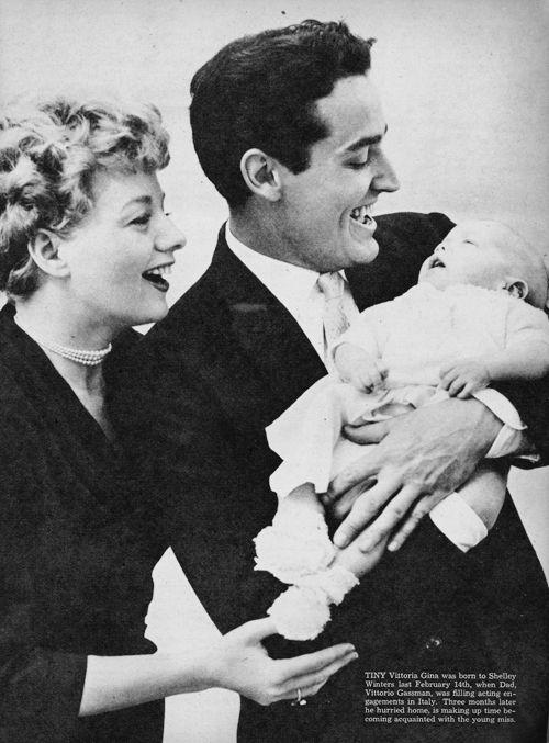 Shelley Winters, Vittorio Gassman, and baby Vittoria Gina #VittorioGassman #italian #cinema #actor #neorealism #movie