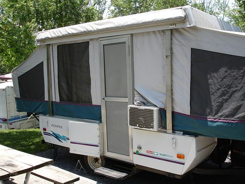 How to add A/C to a Popup Camper from Starling Travel.... This is a really good idea instead of paying $$ to have it installed