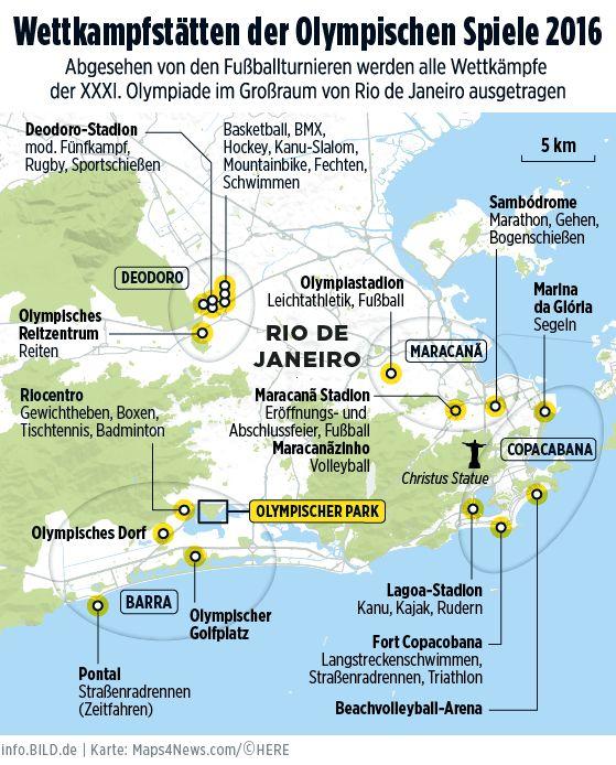 Olympia 2016 in Rio   Zeitplan, Disziplinen, Sportler - Olympia 2016 - Bild.de