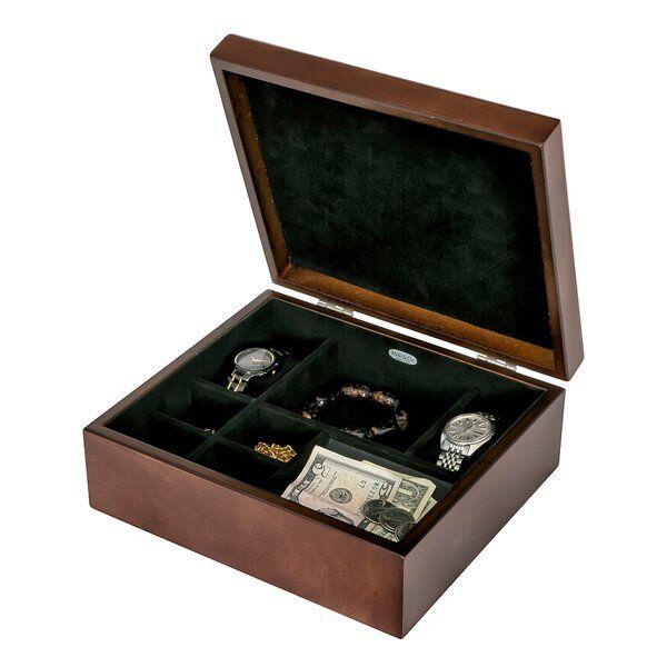 Men S Wooden Dresser Top Watch Box In 2020 Wooden Jewelry Mens Diamond Stud Earrings Sterling Silver Engagement Rings