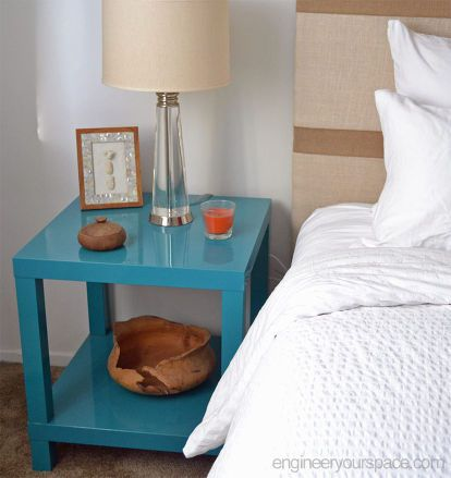 diy nightstands ikea lack table hack, painted furniture, repurposing upcycling