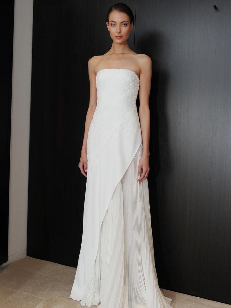 J. Mendel pleated strapless wedding dress from Spring 2015