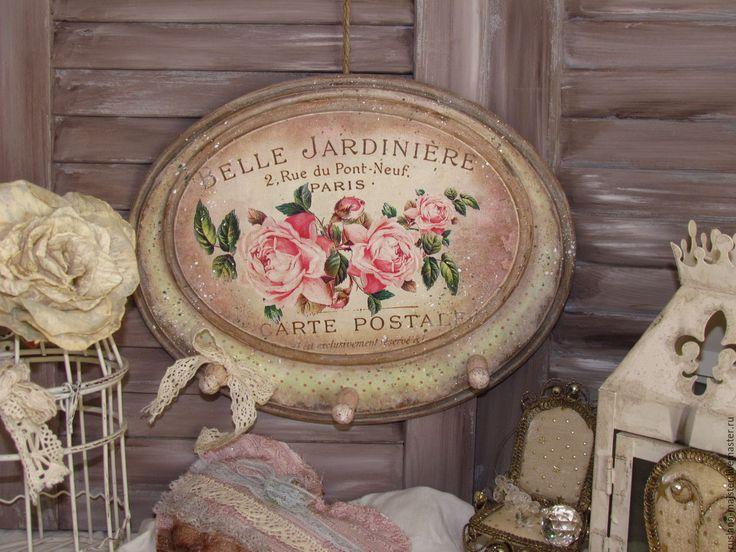 """Купить Вешалка-ключница """" Belle Jardin"""" - ключница, Ключница декупаж, прованс, винтаж, ретро"""