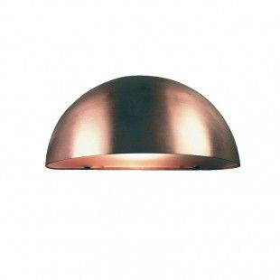 Nordlux Scorpius Curved Outdoor Wall Light Copper