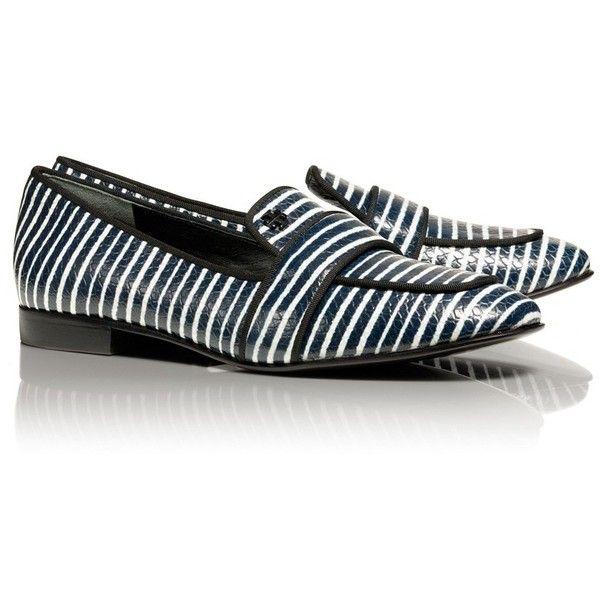 Tory Burch Evette Stripe Loafer $325