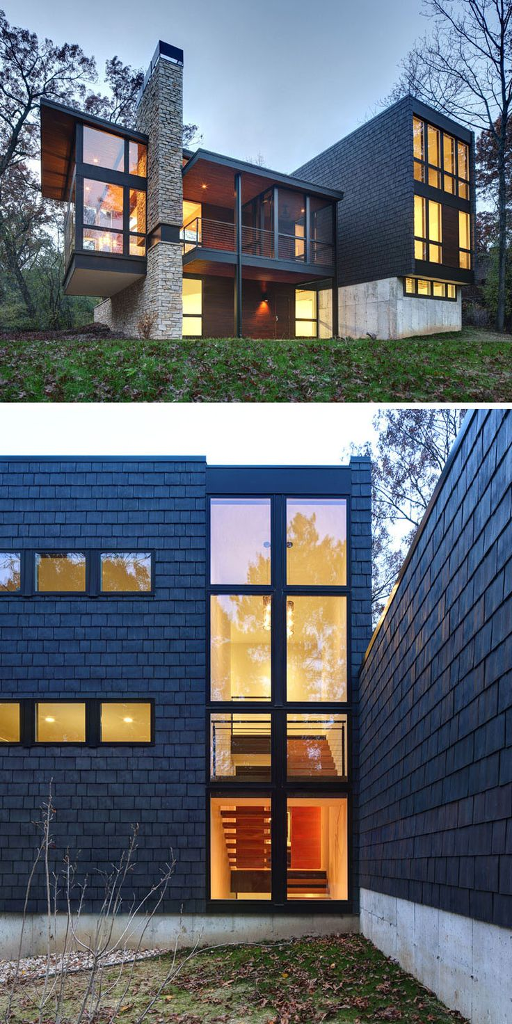 Black canyon window and door sierra pacific wisconsin windows - 13 Examples Of Modern Houses With Wooden Shingles This Contemporary House In Wisconsin Decided