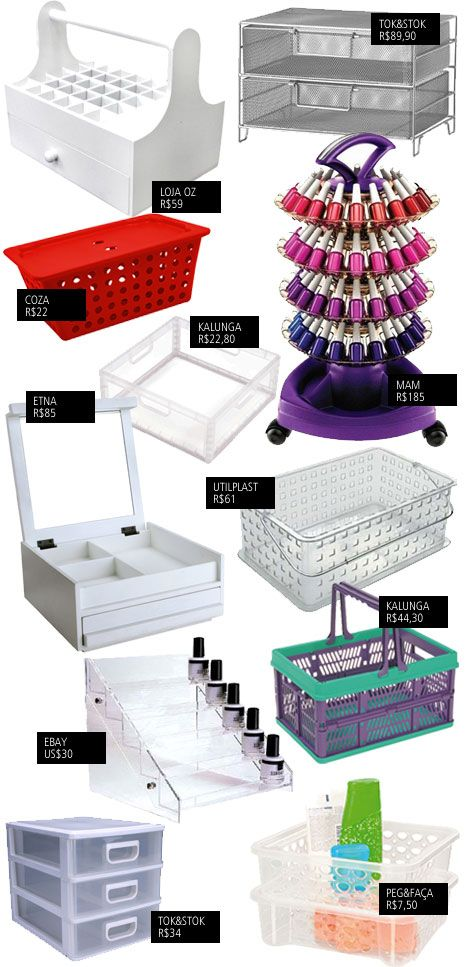 Nail Polish Organization Ideas @Erica Rae you need all of these!!! :)