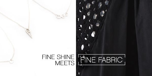 Fine Shine meets Fine Cloth : In God We Trust Jewellery | Taylor #TaylorBoutique #TaylorStyle #NZ #HighFashion #SS14 #NewCollection #NewZealand #Fashion