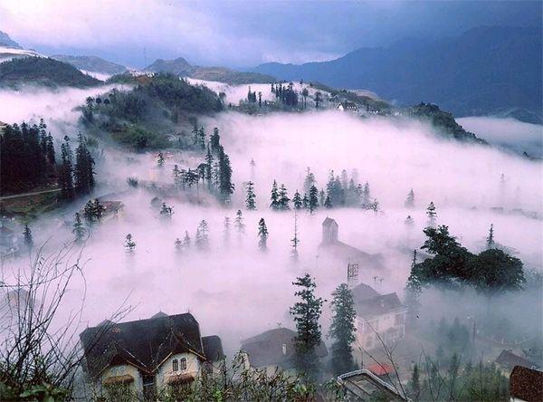Sapa - le village dans le brouillard
