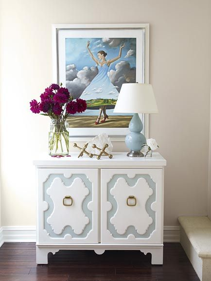 Suzie: massucco warner miller - whimsical foyer with robert abbey double gourd lamp in baby ...