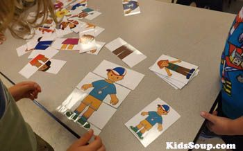 My Body parts activity and folder game for preschool and kindergarten