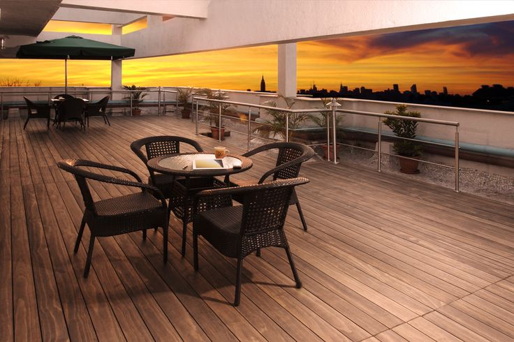 Accoya® wood used by one of India's leading shipping companies to enhance the 16th and top floor of its prestigious downtown commercial building in Mumbai. #accoya #wood