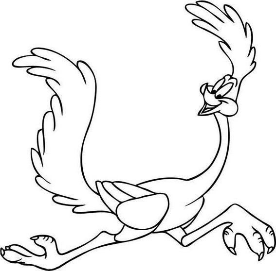 Wile E Coyote Roadrunner From Looney Tunes Coloring Pages