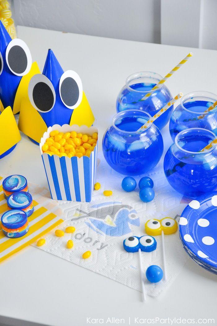 DIY Finding Dory Themed Birthday Party by Kara Allen | Kara's Party Ideas | KarasPartyIdeas.com for Bounty-25