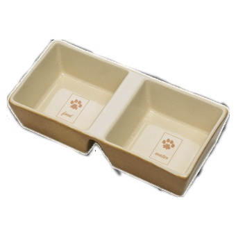 This ceramic cat dish is very Zen. $15.00