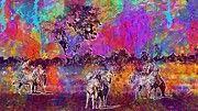 """New artwork for sale! - """" Botswana Okavango Delta Zebras  by PixBreak Art """" - http://ift.tt/2up60J4"""