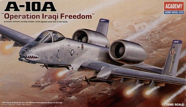 "Fairchild A-10A ""Operation Iraqi Freedom"". Academy, 1/72, injection, No.12402. Price: 8,99 GBP."