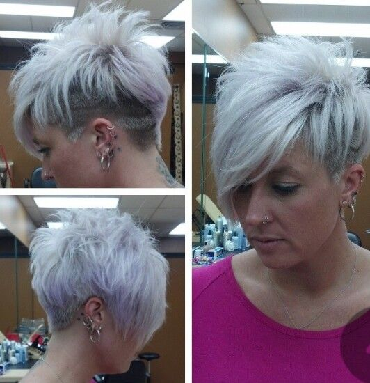This is how I want my hair, but with out all the shaved parts, just cut short and spikey!