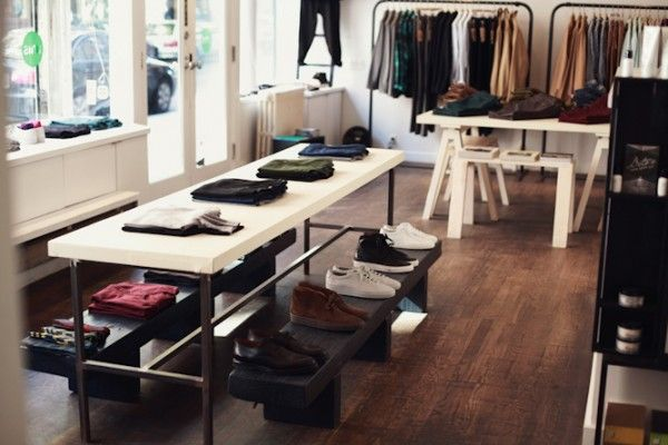 Sleek and clean clothing store