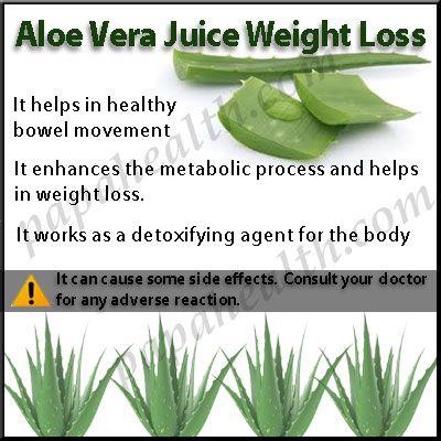 pure aloe vera juice weight loss