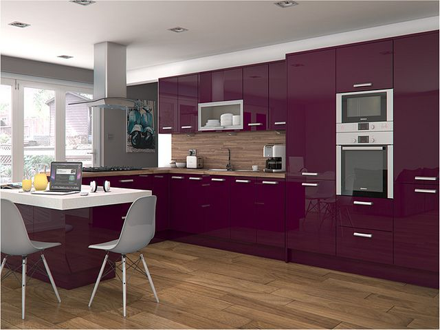 Altino violet kitchen gloss kitchen high gloss and kitchens for Kitchen designs high gloss