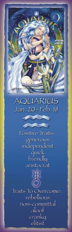 Bergsma Gallery Press :: Products :: Bookmarks :: Zodiac :: Zodiac Series / Aquarius - Bookmark