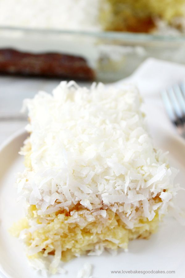 Better-Than-Sex Coconut Cream Pie Poke Cake | TheBestDessertRecipes.com