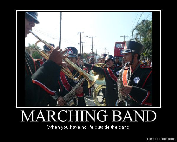 an introduction to the first week of marching band camp The week of torture that makes band kids cry and still enjoy themselves  typical  band camp activities may include: marching, standing in the hot sun for hours,  getting eaten  the first time i ever went to summer camp, i went to band camp.