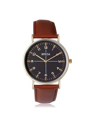 16% OFF Breda Men's 1646B Brown/Black Alloy Leather Watch