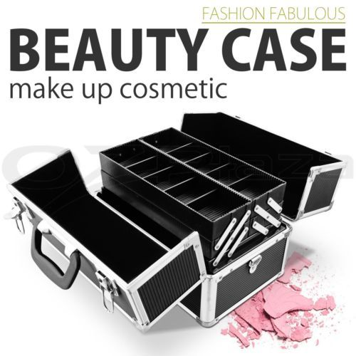 Portable-Travel-Cosmetic-Beauty-Make-Up-Nail-Hair-Carry-Case-Box-Organiser-Black