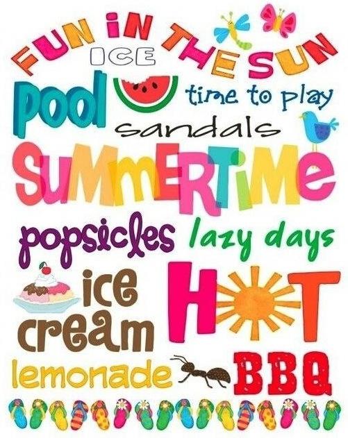Summer words via Living Life at www.Facebook.com/LivingLife2TheFull