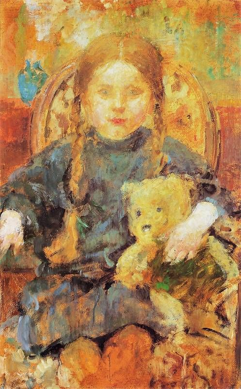 The Athenaeum - Girl with a Teddy Bear (Olga Boznańska - )