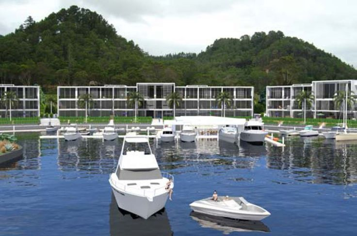 Pauanui Waterways - Resort and floating restaurant -  Pauanui - image created by Nick Hindson