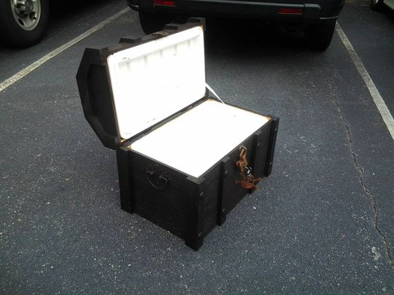 Do It Yarrrself: Pirate Chest Cooler. This is a neat idea, seems like it would be heavy though. Sure would not want to carry it very far!