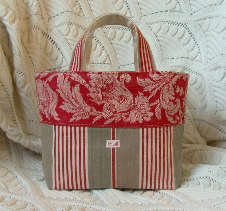 Cute tote bag with complementary fabrics. Great craftsmanship.