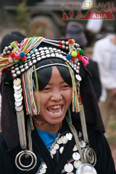 Ahka woman in Banyo market Phongsali